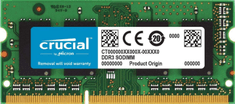 Crucial pomnilnik (RAM) Mac & PC DDR3 8GB, 1333MHz, SODIMM, CL9 (CT8G3S1339M)