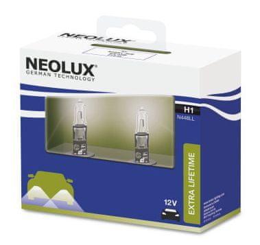 NEOLUX Žárovka typ H1, Extra Lifetime 55W, 12V, P14.5s (sada 2 ks)