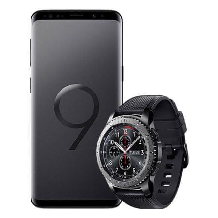 Samsung GSM telefon Galaxy S9+ 64 GB, Midnight Black + Darilo: Samsung pametna ura Gear S3 Frontier