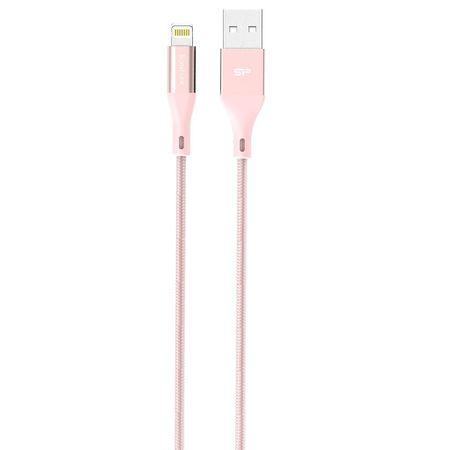 Silicon Power LK30LB - Lightning, 1m, 2.4A QC, Pink