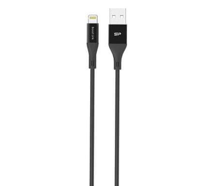 Silicon Power LK30LB - Lightning, 1m, 2.4A QC, Black