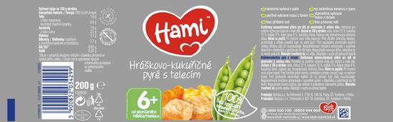 Hami Hráškovo-kukuričné pyré s teľacím 6x200g
