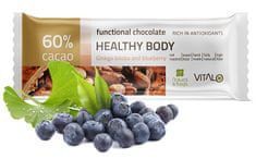 Vitalo Funkční čokoláda Healthy Body - Gingo Biloba and blueberry 25g