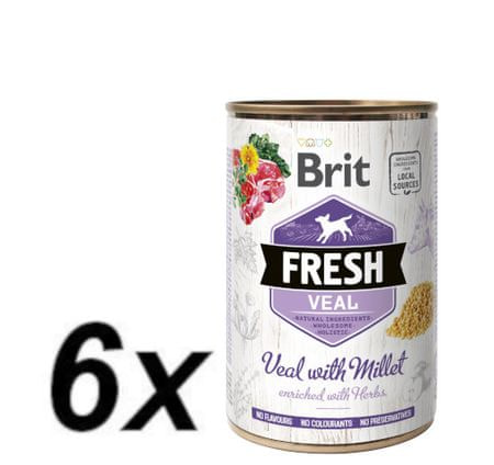 Brit Fresh Veal with Millet 6x400g
