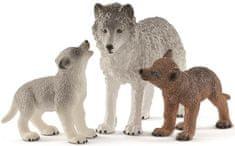 Schleich Vlčica a mláďa vlka