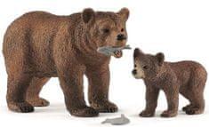 Schleich Niedźwiedź grizzly z młodymi