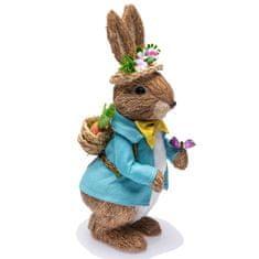 Seizis Zajíc stojící v modrém obleku, 32 cm