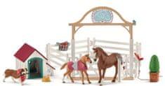 Schleich Hannah s konji in psom Rubyjem