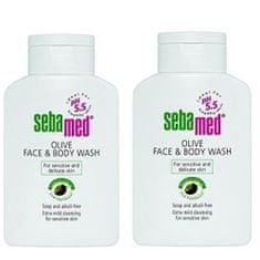 Sebamed Mycí emulze s olivovým olejem na obličej a tělo Classic (Olive Face & Body Wash) 2 x 200 ml