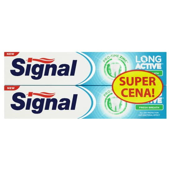 Signal zobna pasta Long Active Fresh Breath, dvojno pakiranje, 2 x 75 ml