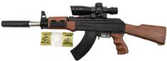 Teddies 72 cm-es összecsukható pisztoly puha vízgolyós lőszerrel