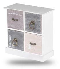 TimeLife Dekorativní skříňka se zásuvkami 23x21x10cm