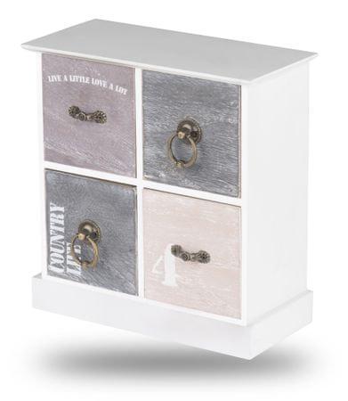 TimeLife Dekoracyjna szafka z szufladkami 23 x 21 x 10 cm