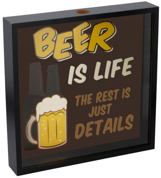 TimeLife Dekorativní skříňka na pivní vršky 35cm