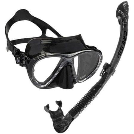 Cressi Set maska BIG EYES EVOLUTION + šnorchl ULTRA DRY, černá-černá