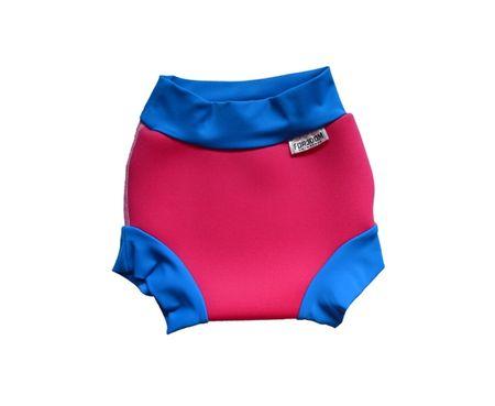 DENA Plienka na plávanie neoprenová, ružovo-modrá, XS