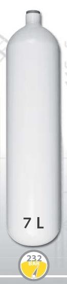 EUROCYLINDER Lahev ocelová 7 L průměr 140 mm 230 Bar