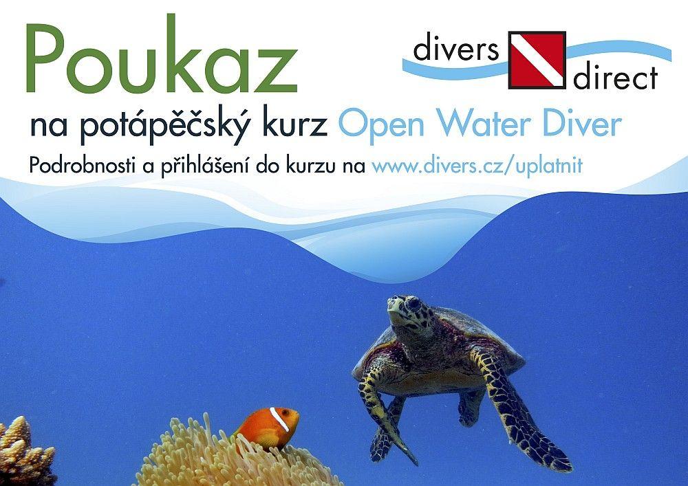 Poukaz dárkový na potápěčský kurz OWD Standard
