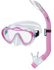 Mares Sada SHARKY (dětská maska + šnorchl), trans/růžová