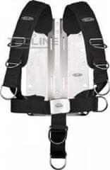 TECLINE Postroj Comfort nastaviteľný- vč. 3 mm nerezový backplate, Tecline