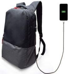 Ewent EW2529 17.3 nahrbtnik za prenosnik , 43,9 cm, USB port, črn