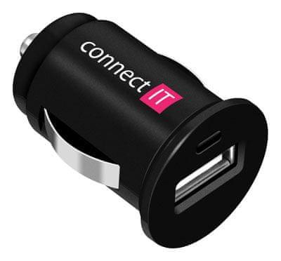 Connect IT ładowarka samochodowa InCarz 1xUSB 1A, czarna CI-177