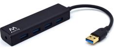 Ewent USB vozlišče (hub) EW1136, 4 vhodi, USB 3.1, črn