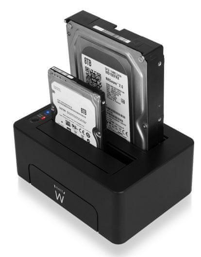 Ewent priklopna postaja za HDD/SSD EW7014, SATA v USB 3.1, črna