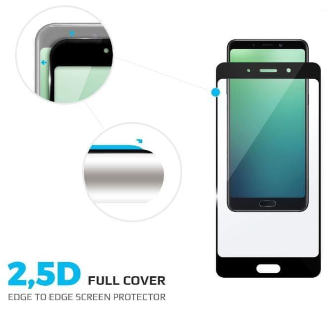 FIXED Ochranné tvrzené sklo Full-Cover pro Samsung Galaxy A6+, lepení přes celý displej, černé, 0,33 mm FIXGFA-317-BK
