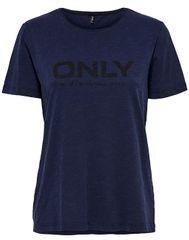 ONLY Dámske tričko Logo Slub DNM Tee Dark Blue Denim