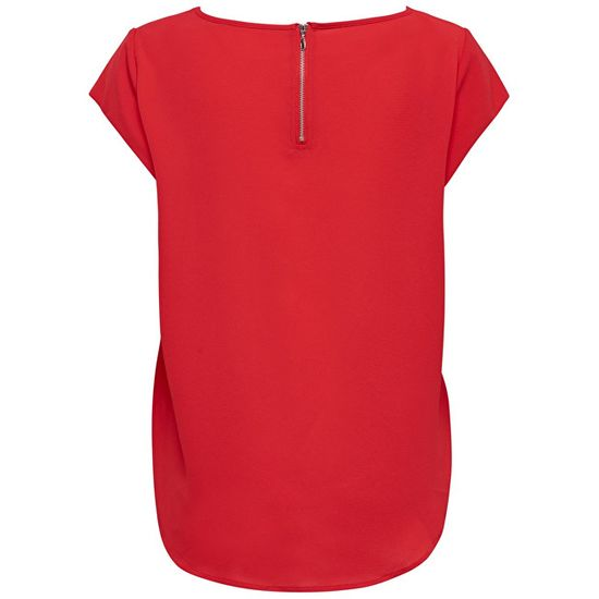 ONLY Női blúz ONLVIC W / S SOLID TOP NOOS WVN High kockázatú piros