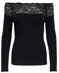 ONLY Dámske tričko Celeste L/S Lace Top Jrs Black