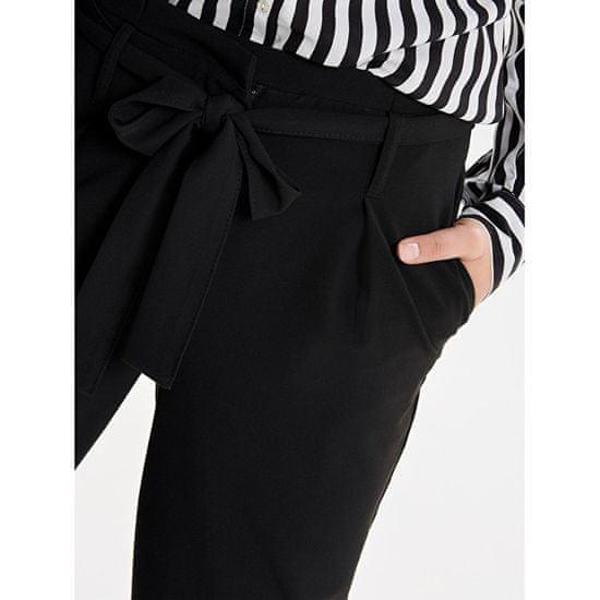 ONLY Nico le Paperbag Ankle Pants Wvn Noos Black