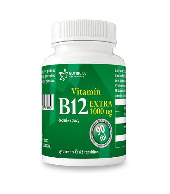 NUTRICIUS Vitamín B12 EXTRA 90 tbl.