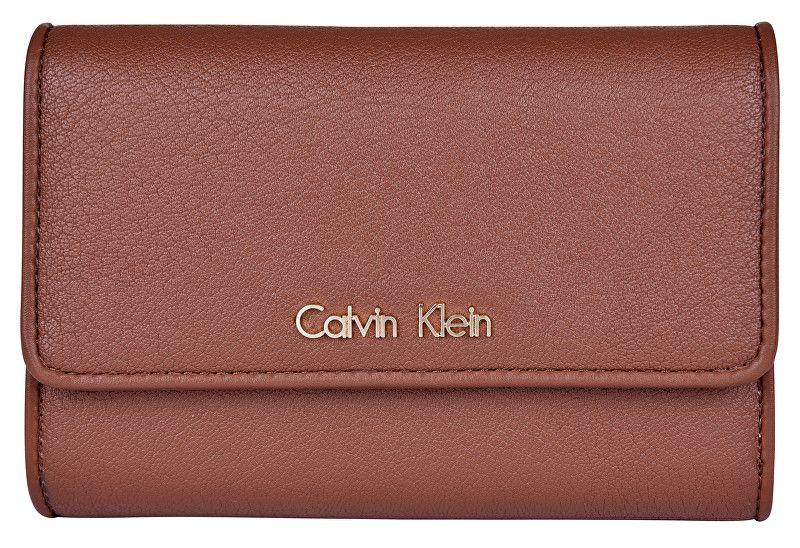 Calvin Klein Dámská peněženka Flap French Clutch-Brown