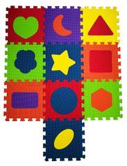 COSING Pěnová podložka puzzle Tvary - 10 ks