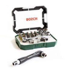 Bosch 26dílná sada sráčnou + oboustranný šroubovák navíc