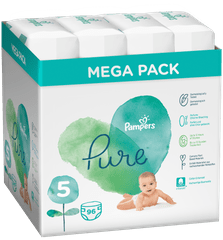 Pampers Pure Protection S5, 96 ks (4x24 ks), 11-16 kg