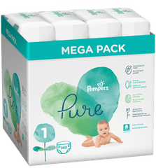 Pampers Pure Protection S1, 140 ks (4x35 ks), 2-5 kg