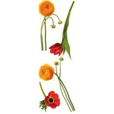 Crearreda stenska dekorativna nalepka, Anemone (58398)