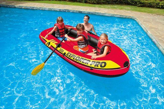 Intex Explorer Pro napihljiv čoln 300, 244x117x36 cm