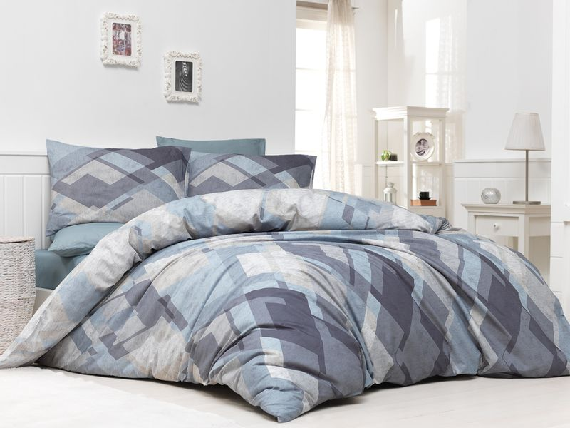 BedTex Povlečení Mosaic Béžové 200x220 / 2x 70x90 cm