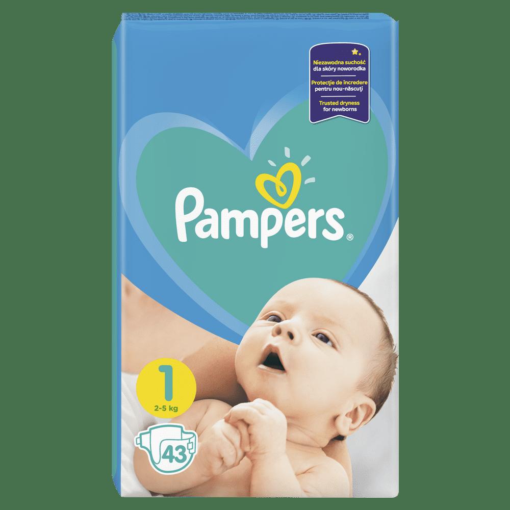 Pampers Plenky New Baby 1 (2-5 kg) Newborn 43 ks