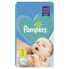 Pampers plenice New Baby 1 Newborn, 43 kosov