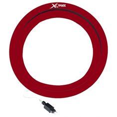 XQMax Darts Sirius LED osvětlení sisalového terče se surroundem - červený