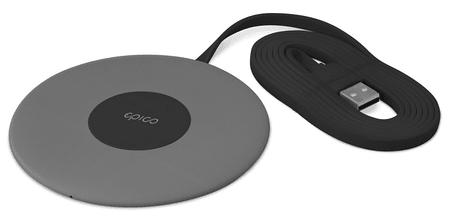 EPICO SLIM WIRELESS PAD 10 W/7,5 W/5 W, fekete