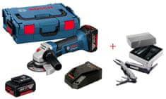 BOSCH Professional aku kotni brusilnik GWS 18-125 V-LI + Swiss Peak 0615990K9V