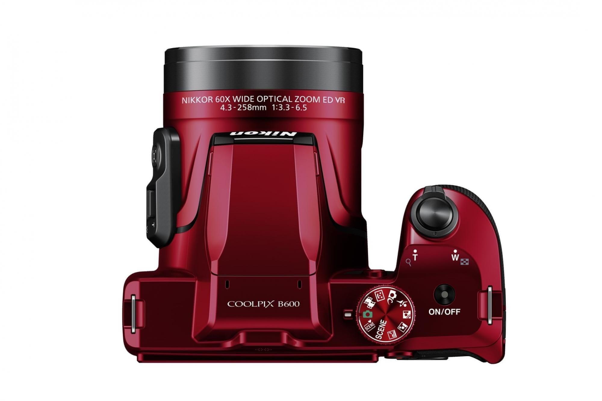 Nikon COOLPIX B600 FULL HD wideo 1080p/30p
