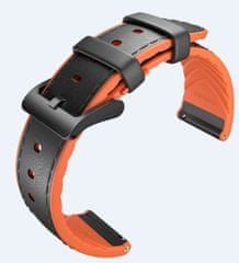 Mobvoi usnjeni pašček TicWatch Pro, črn/oranžen