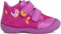 D-D-step dívčí kotníkové boty s ptáčkem